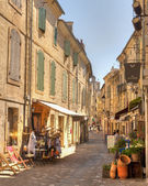 Narrow Winding street of Uzes France — Stock Photo