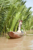 Small Boat from Ben Tre Province — Stock Photo