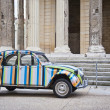 Stock Photo: Antique Citroen at Temple Augustus