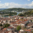 Stock Photo: Vienne France and Rhone River
