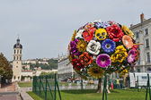 Sculpture of Flower Bouquet in Lyon — Stock Photo