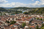 Vienne France and Rhone River — Stock Photo