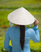 Vietnamese Woman at My Tho City — Stock Photo