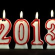 New year 2013 - candles — Stock Photo #10693073