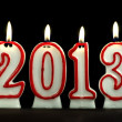 New year 2013 - candles — Stock Photo