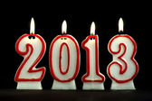 новый год 2013 - свечи — Стоковое фото