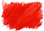 Red watercolor background (isolated) — Stock Photo