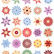 Royalty-Free Stock Vector Image: Set of different flowers