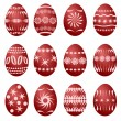 12 easter eggs (vector) — Stock Vector
