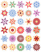 Conjunto de flores diferentes — Vetorial Stock