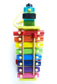 Colorful, Wooden Xylophone with Mallet — Stock Photo