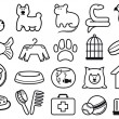 Pets care icon set — Stock Vector #10519883