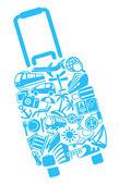 Symbols of tourism — Stock Vector