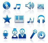 Audio and Music icons — Vector de stock