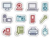 Equipment stickers — Stockvektor