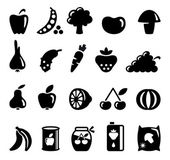 Vegetables and fruit icons — 图库矢量图片