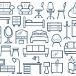 Постер, плакат: Furniture icons set