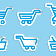 Stock Vector: Shopping cart and basket icons