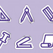 Stock Vector: Stationery and office icons