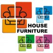 Symbol of house furniture — Stock Vector #9793349
