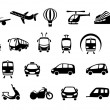 Transport icons — Stock Vector #9794225