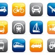 Transport buttons — Stock Vector #9794230
