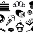 Icons of sweets — Stock Vector #9795599