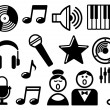 Audio and Music icons — Stock Vector #9795933