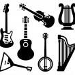 String musical instruments — Stock Vector