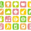 Vegetables and fruit icons — Stock Vector #9796128