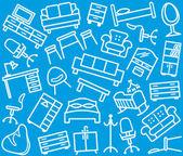 Sfondo mobili senza soluzione di continuità — Vettoriale Stock