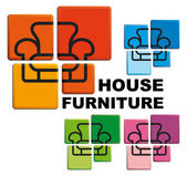 Symbol of house furniture — Stock Vector