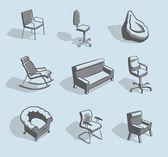 Meubles pour s'asseoir — Vecteur
