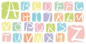 Grunge vektor alfabetet — Stockvektor