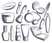 Cosmetics sketches — Stock Vector