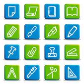Pappersvaror och ikoner — Stockvektor