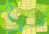 Map of the city. — Stock Vector