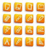 ícones de papelaria e escritório — Vetorial Stock
