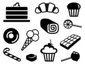 Icons of sweets — Stock Vector