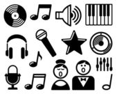 Audio and Music icons — Stock Vector