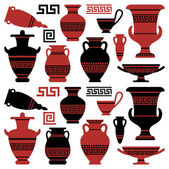 Antique vases and vessels — Stock Vector