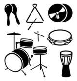 Instrumentos musicais de choque — Vetor de Stock