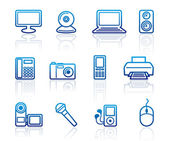 Equipment icons — Stock Vector
