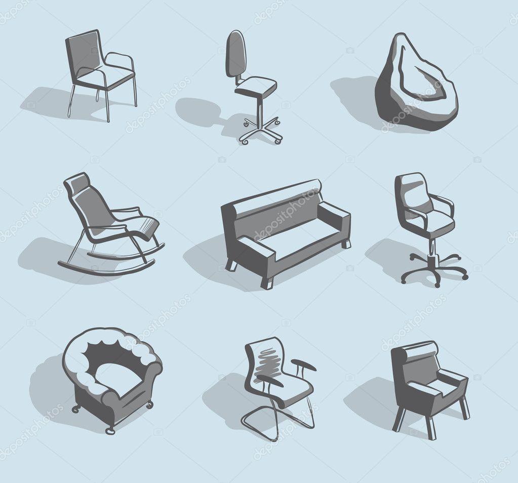 meubles pour s 39 asseoir image vectorielle abdurahman