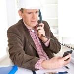 Architect on the phone — Stock Photo
