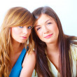 Two girls friendship - Stock Photo