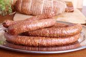 Cold smoked sausage — Stock Photo