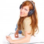 Girl with headphones — Stock Photo #9731108