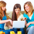 Beautiful girls with laptop - Foto de Stock  
