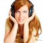 Girl with headphones — Stock Photo #9731468